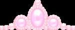 ティアラ風の飾り ピンク