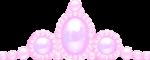 ティアラ風の飾り パープル