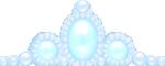 ティアラ風の飾り ブルー