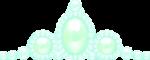 ティアラ風の飾り グリーン