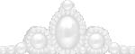 ティアラ風の飾り ダーク