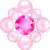 パールとダイヤの飾り ピンク