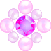 パールとダイヤの飾り パープル