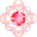 パールとダイヤの飾り レッド