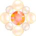 パールとダイヤの飾り オレンジ