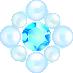 パールとダイヤの飾り ブルー