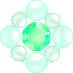 パールとダイヤの飾り グリーン