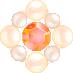 パールとダイヤの飾り ナチュラル