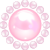 パールの飾り ピンク