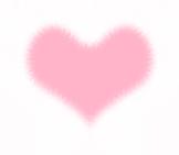 おしゃれなファーのハート ピンク