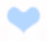 おしゃれなファーのハート ブルー