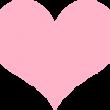 パステルカラーのハート ピンク