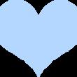 パステルカラーのハート ブルー