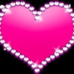 キラキラハート ピンク