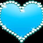 キラキラハート ブルー