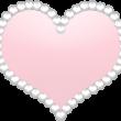キラキラお洒落なハート ピンク