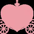ハートの馬車 ピンク