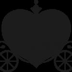 ハートの馬車 ブラック