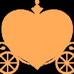 ハートの馬車 オレンジ
