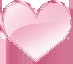 ガラスのハート ピンク