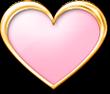 メタルのハート ピンク