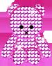キラキラくまのぬいぐるみ ピンク