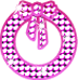 キラキラ リース ピンク