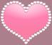 キラキラ ハート 淡いピンク