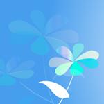 花のイラスト ヘッダー ブルー