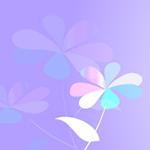 花のイラスト ヘッダー パープル