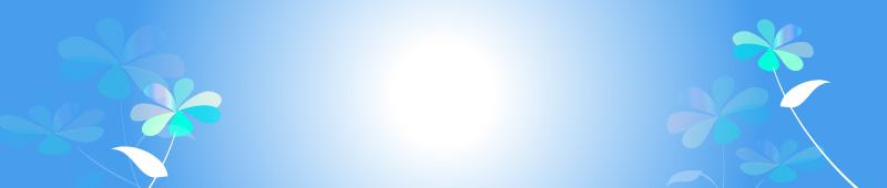 紫陽花のイラスト ヘッダー ブルー