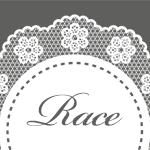 お洒落な花柄の円形レース ホワイト
