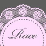 お洒落な花柄の円形レース ピンク