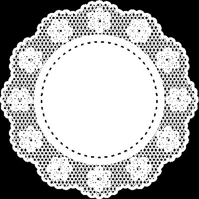 おしゃれな花柄の円形レース イエロー