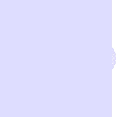 お洒落な花柄の円形レース ブルー