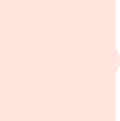 お洒落な花柄の円形レース オレンジ