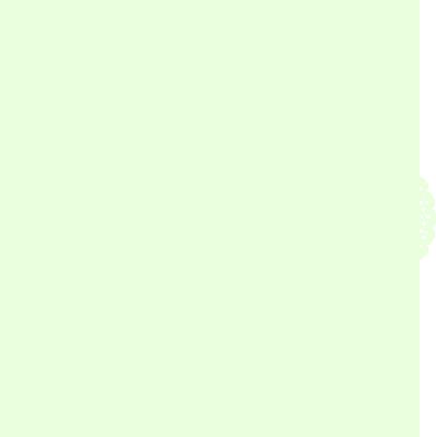 お洒落な花柄の円形レース グリーン