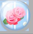 薔薇のボタン ブルー