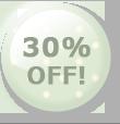 30%OFF!のボタン グリーン
