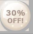 30%OFF!のボタン ナチュラル